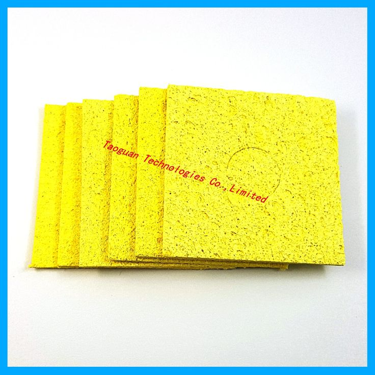 50pcs/lot Cleaning Sponge for High Temperature Electric Welding Soldering Irons repair cellphones tools