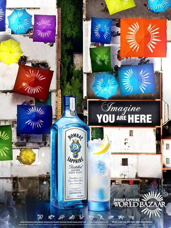 Bombay Sapphire World Bazaar on Behance