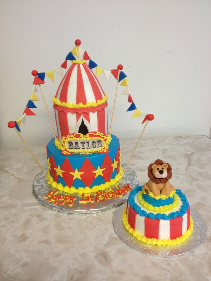 - Buttercream icing with fondant flags, stripes, diamonds and stars. The lion on the smash cake is also fondant.