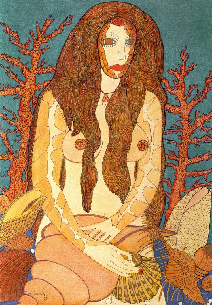 Mujer y corales, 1983