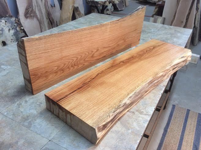 Oak Mantel lumber. Matched oak lumber. Red oak for sale. End table oak. Jared Coldwell live edge oak lumber for sale at