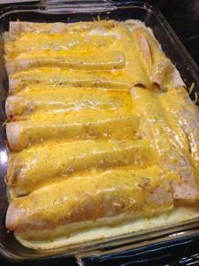 Sour Cream Chicken Enchiladas (THM!)