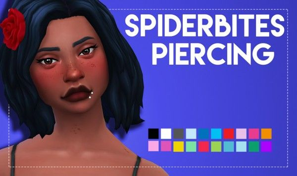 Simsworkshop: Spider Bites Piercing by Weepingsimmer • Sims 4 Downloads