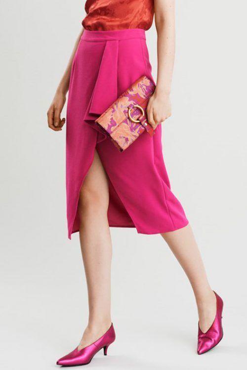 Pink volangskjørt Gestuz - mio skirt 1878