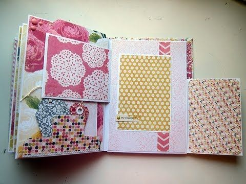Envelope Mini Album with lots of pockets and folds-Not a tutorial but could be followed easily.