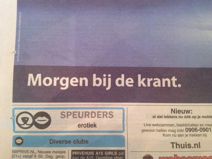 Krant: Telegraaf, hoofd- en kleine letter, bold, breed, horizontaal