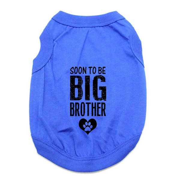 Custom Dog Tank Tops. Soon To Be Big Brother Dog by RedemptionDog. Custom Dog Tank Tops. Soon To Be Big Brother Dog Shirt. Large Breed Pet Clothes. Gift for Expecting Mother. Pregnancy Announcement. Pregnancy Reveal. New Baby Reveal Idea. Soon to be Big Sister. Large Dog Clothes.