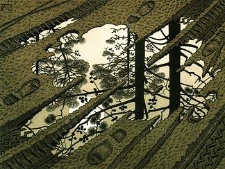 M.C. Escher: Woodcut