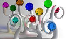 Abstract 3D Glass Wallpaper Hi Res Image