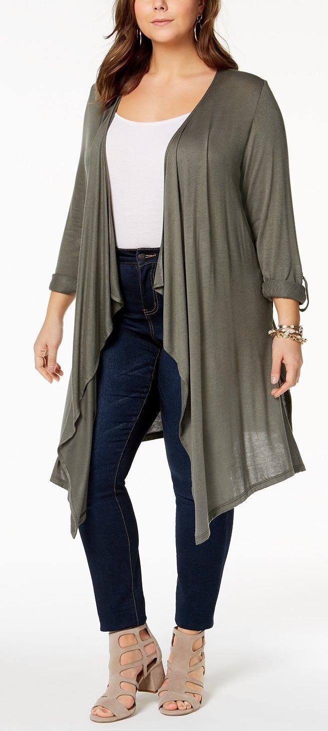 Plus Size Duster Cardigan