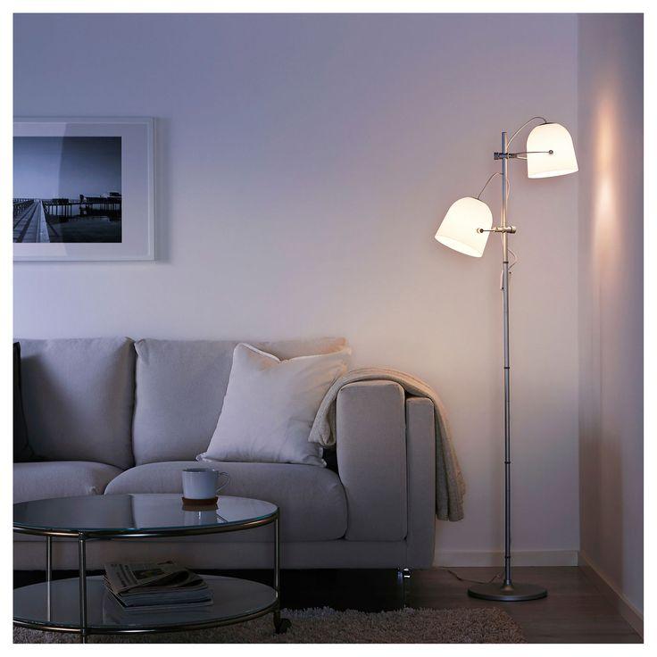 IKEA SVIRVEL Gulvlampe med 2 skjermer