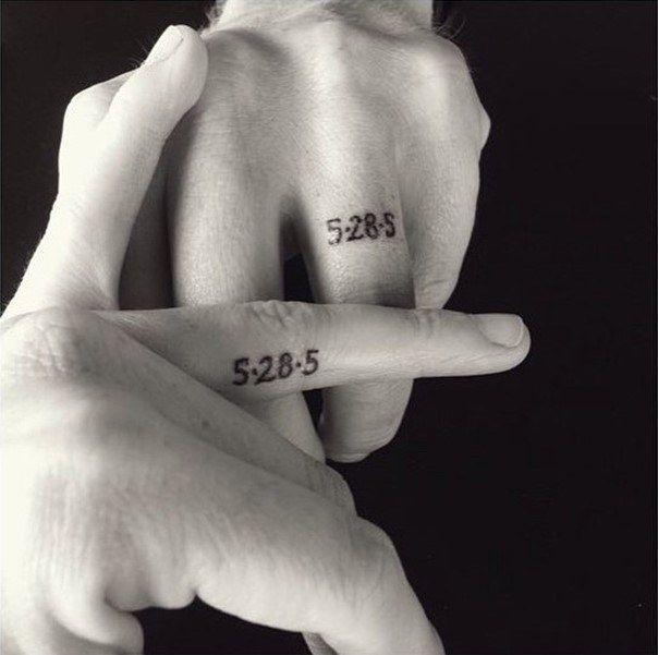 wedding ring tattoos date