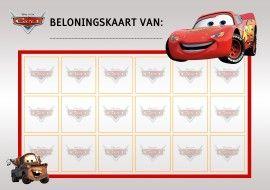 Beloningskaart Cars