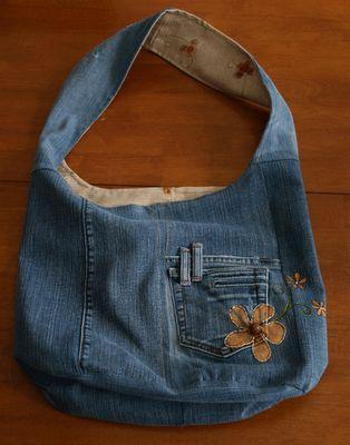 Tchoubi ::: Petites histoires créatives: Mon vieux jeans... transformé en sac reversible