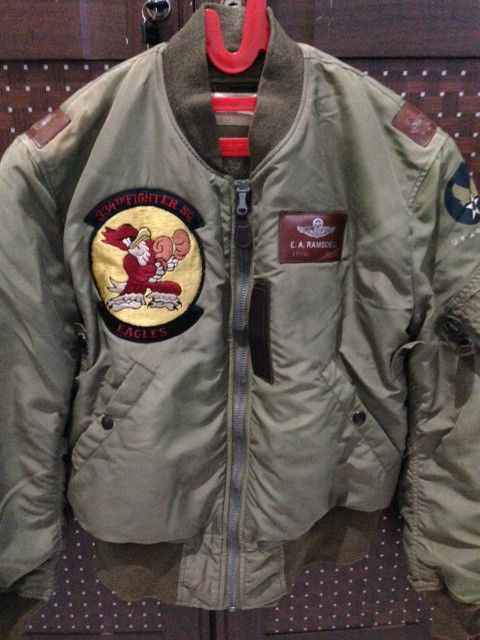 Authentic BUZZ RICKSON'S B-15C 334th Fighter SQ flight bomber jacket size 38 #BUZZRICKSONS #FlightBomber