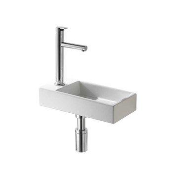 Rectangular V - Lille håndvask til placering på væg i venstre side