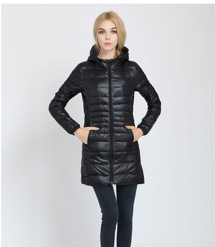 >> Click to Buy << womens ultra light down jacket medium long style 2016 new women parka coats hooded with hood women hoodies lady fashion #Affiliate