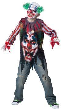 Big Top Terror Scary Kids Costume - Kids Costumes
