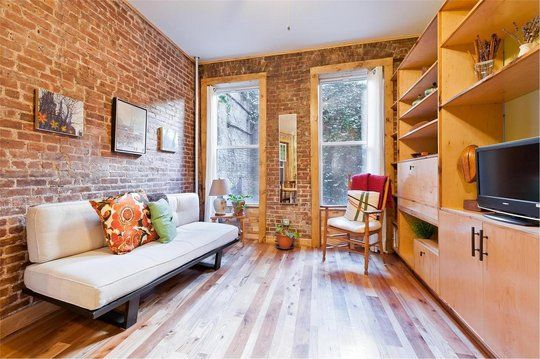 Super cute and simple: Exposed Bricks, I Love You, Apartment Therapy, Beaver Tail, Super Cute, Expo Bricks, Studios Apt, Small Homes, Abode Apartment