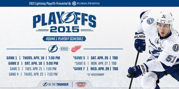 Round 1 playoff schedule