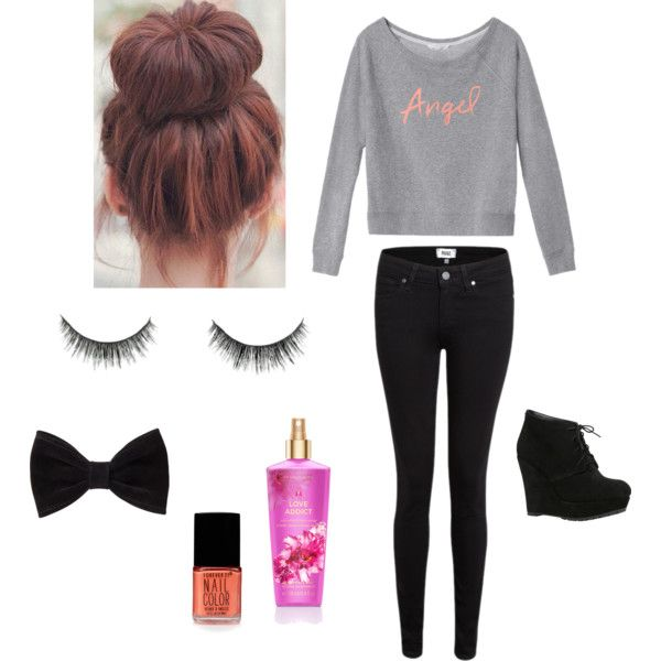 Angel by harley15 on Polyvore featuring polyvore, fashion, style, Victoria's Secret, Paige Denim, ALDO and Forever 21
