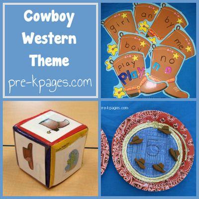Cowboy Western Theme Pre-k Pages