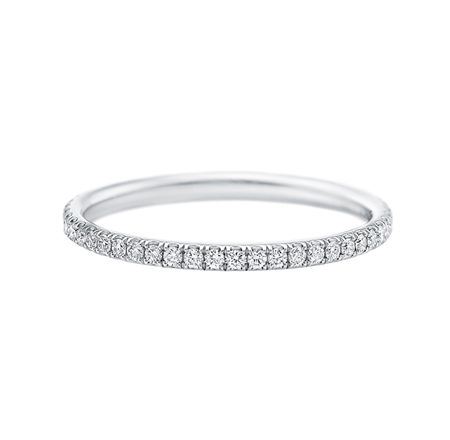 harry winston Micropavé Band Ring 49 round brilliant diamonds, total weight 0.28 carats; platinum setting.  -- love