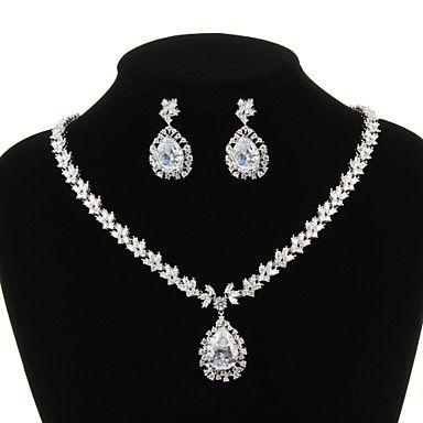 Set+bijuterii+Pentru+femei+Aniversare+/+Nuntă+/+Logodnă+/+Zi+de+Naștere+/+Cadou+/+Petrecere+/+Ocazie+specială+Set+Bijuterii+Zirconiu+Cubic+–+USD+$+79.99