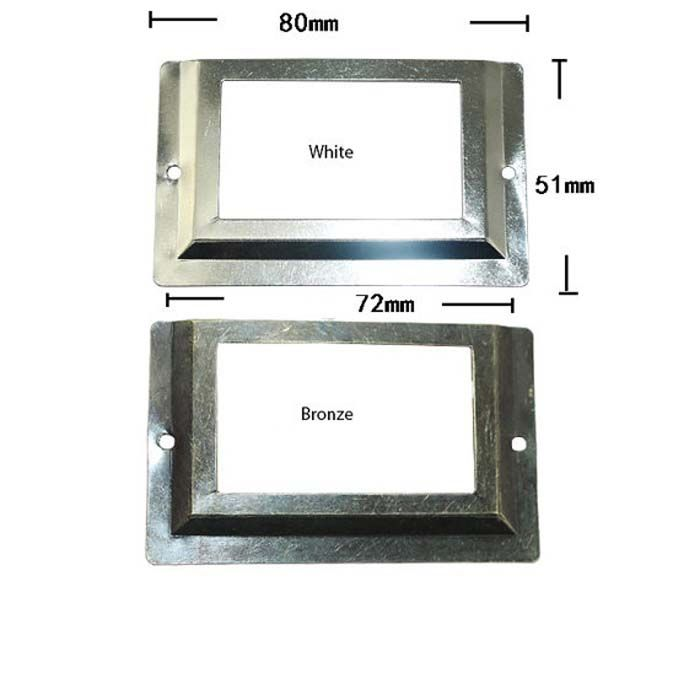 80x51mm Antieke Metalen Label Pull Frame Bestand Naam Kaarthouder Voor Meubels Kast Lade Box Case Bin(China (Mainland))
