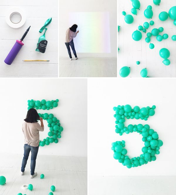 Giant Balloon Number DIY