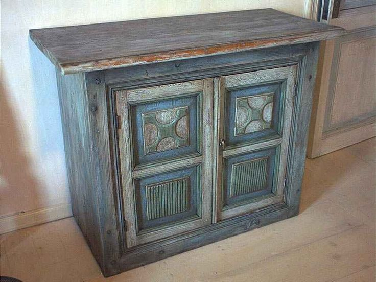 Тумба кантри синяя | Мебель