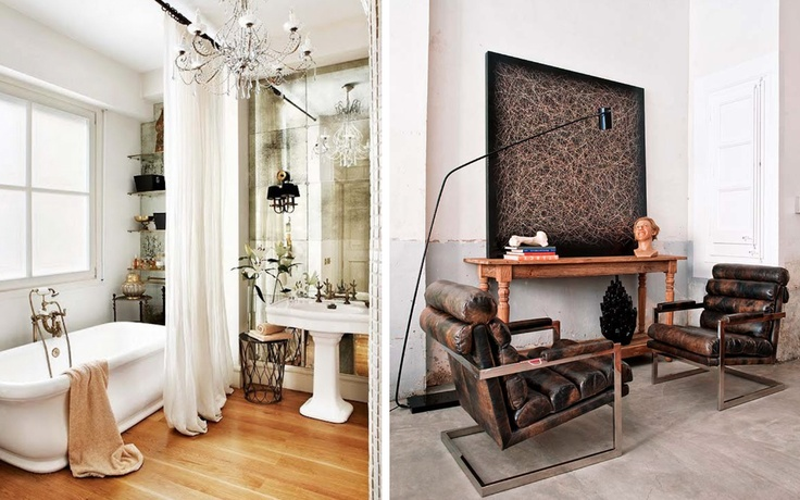bathroom/armchairs
