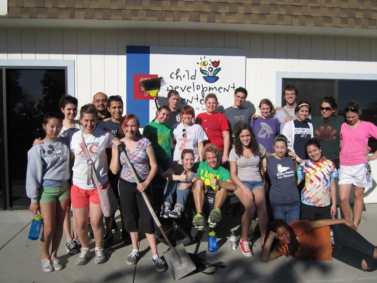 Dozens of local students from Claremont Colleges volunteer at Easter Seals Child Development Center in Upland to recognize MLK Day 2012.