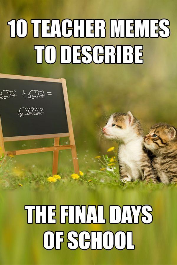 10 Teacher Memes To Describe The Final Days Of School Teacher Memes Teacher Humor Teacher Break