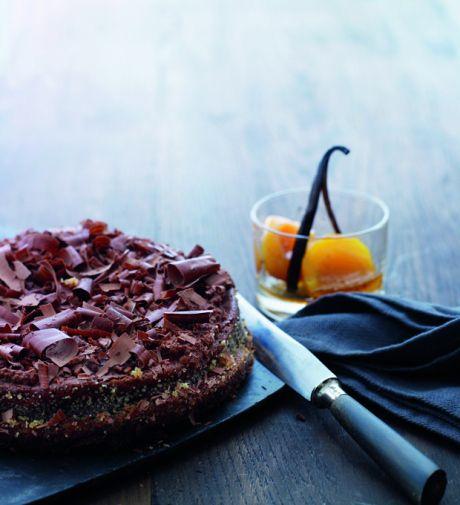 Marcel-chokoladekage med abrikoser