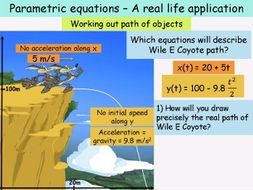 A real life application to parametric equation by valerie_vincent - Teaching Resources - Tes