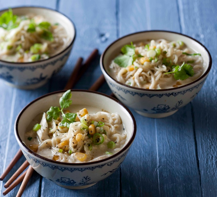 Chicken, noodle & sweetcorn #soup. Unconventional but oh-so good! # ...