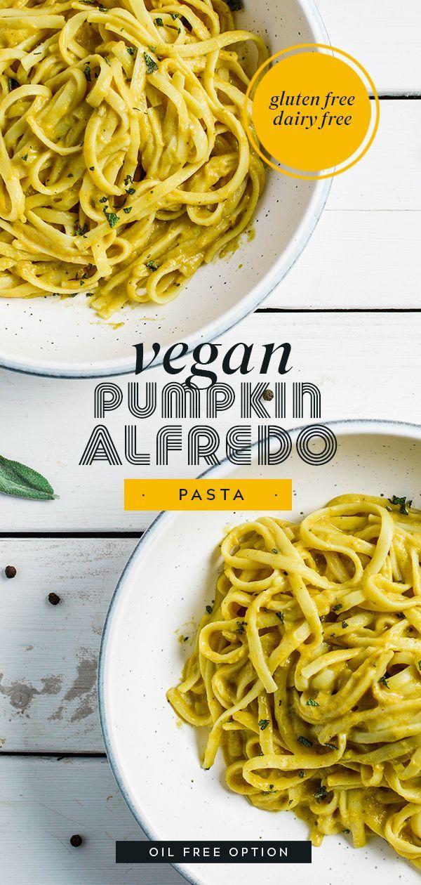 Vegan Pumpkin Alfredo Pasta Vegan Pumpkin Vegan Dinners