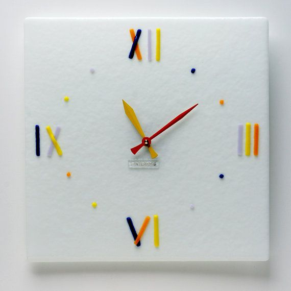 87 best Fusing glass wall clocks Sinteriors images on Pinterest