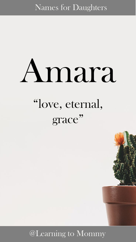 Baby Names Girls Names Amara Names Meaning Love Names That Mean Love Names With Meaning Cute Baby Names