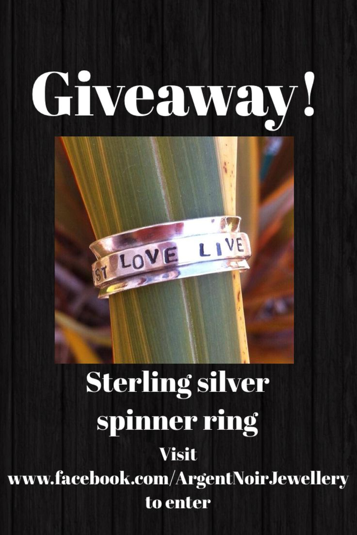 Giveaway on now. Enter at.... Www.facebook.com/ArgentNoirJewellery   #silver #jewellery #handmade #wedding #craft #spinnerring #free #win #giveaway #competition #style #fashion #swag #summer #love