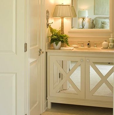 Nice simple vanity style with mirror inserts