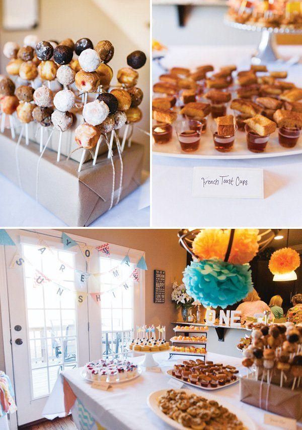 """Good Morning Sunshine"" Breakfast (Pancake + PJs) First Birthday Party"