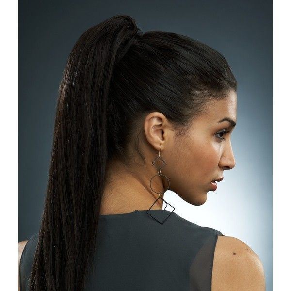 Straight Clip On Ponytail (2 410 ZAR) ❤ liked on Polyvore featuring accessories and hair accessories