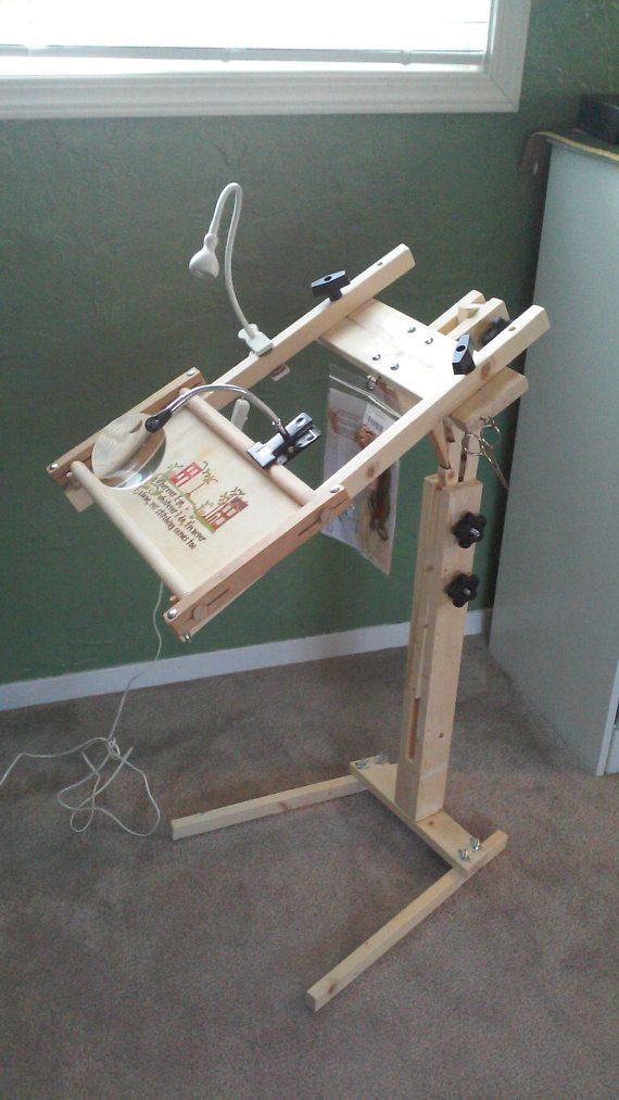 Needlework Floor Stand with Storage/Travel Bag by OceanWoodworks