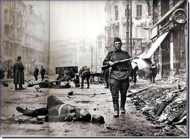 When it was all over. When last gun fell silent in Berlin. 1945