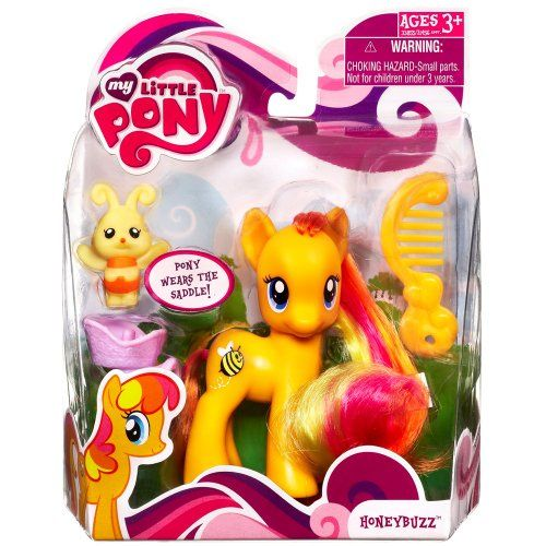 My Little Pony Figure Honeybuzz with Saddle Hasbro http://www.amazon.com/dp/B00604W9UE/ref=cm_sw_r_pi_dp_WN8tub000TZ51