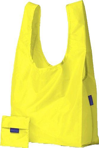 Bolsa de compra amarilla reutilizable