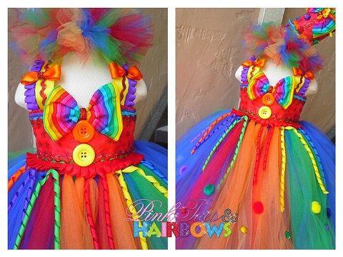Custest Circus Clown Tutu Dress