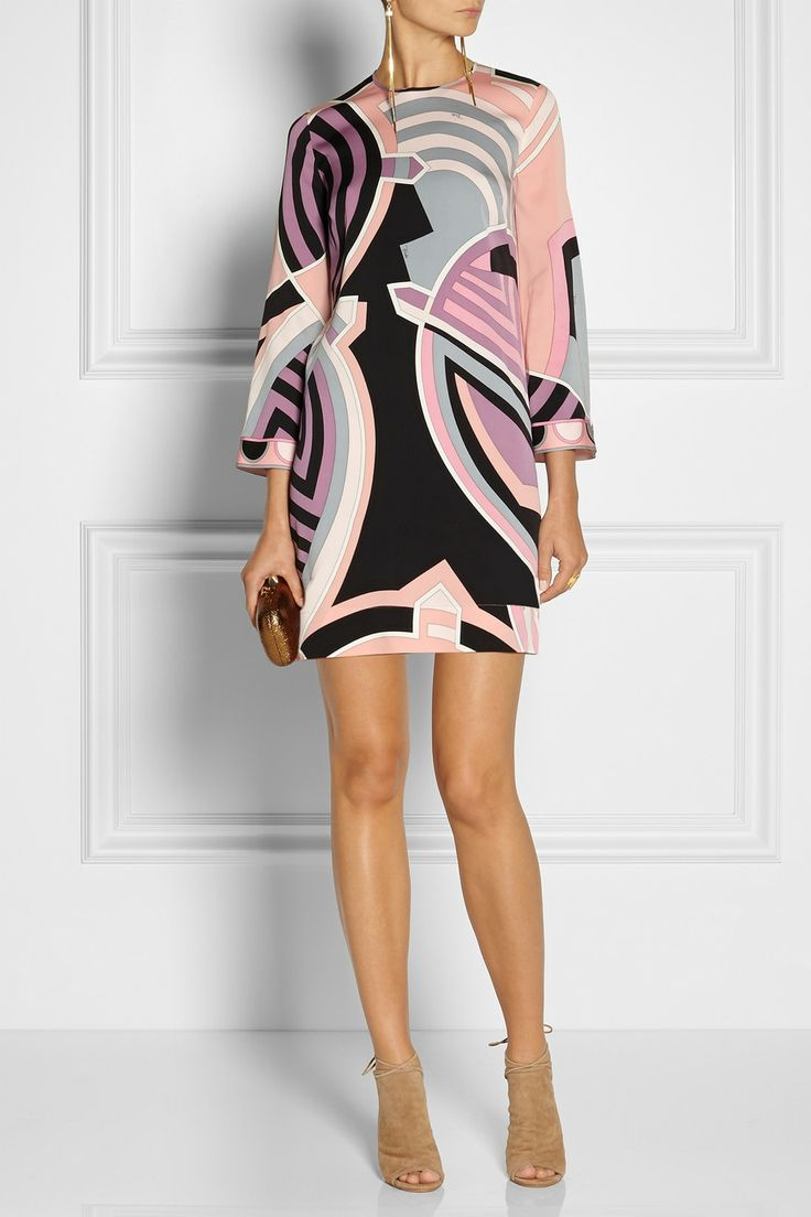 Emilio Pucci | Duomo printed silk-blend georgette dress | NET-A-PORTER.COM